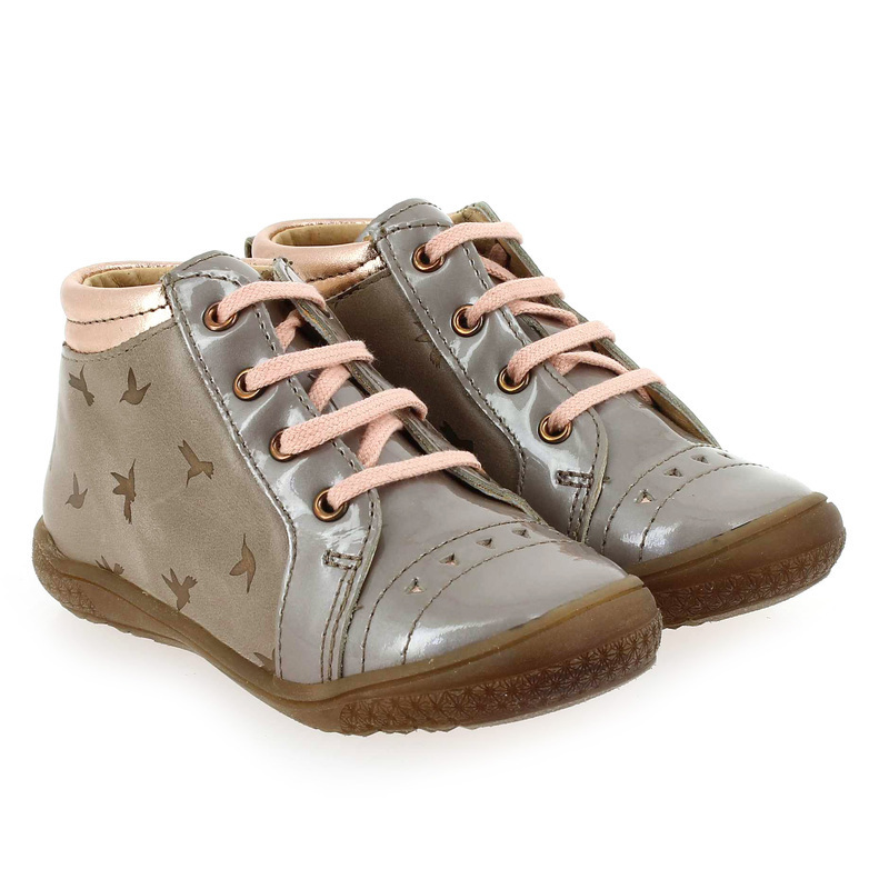Chaussure Babybotte ANVOLL beige couleur Taupe Rose - vue 0