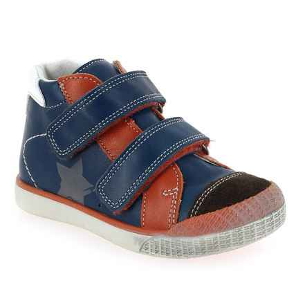 Chaussure Babybotte modèle ASTERY, Jeans Rouge - vue 0