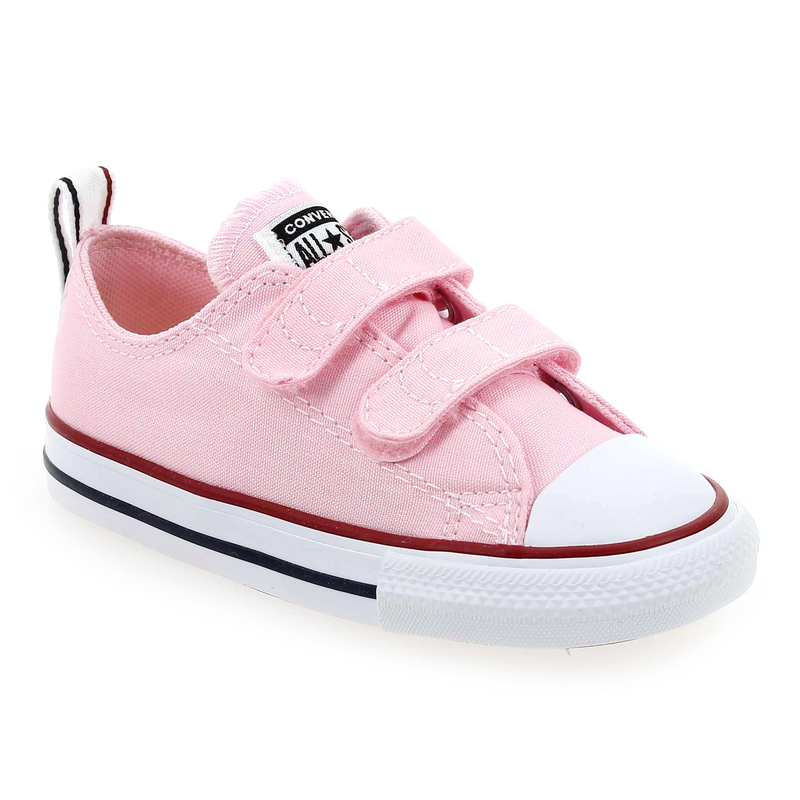 chaussure rose converse