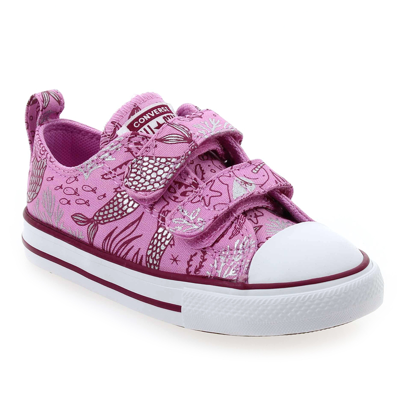 converse rose enfant scratch