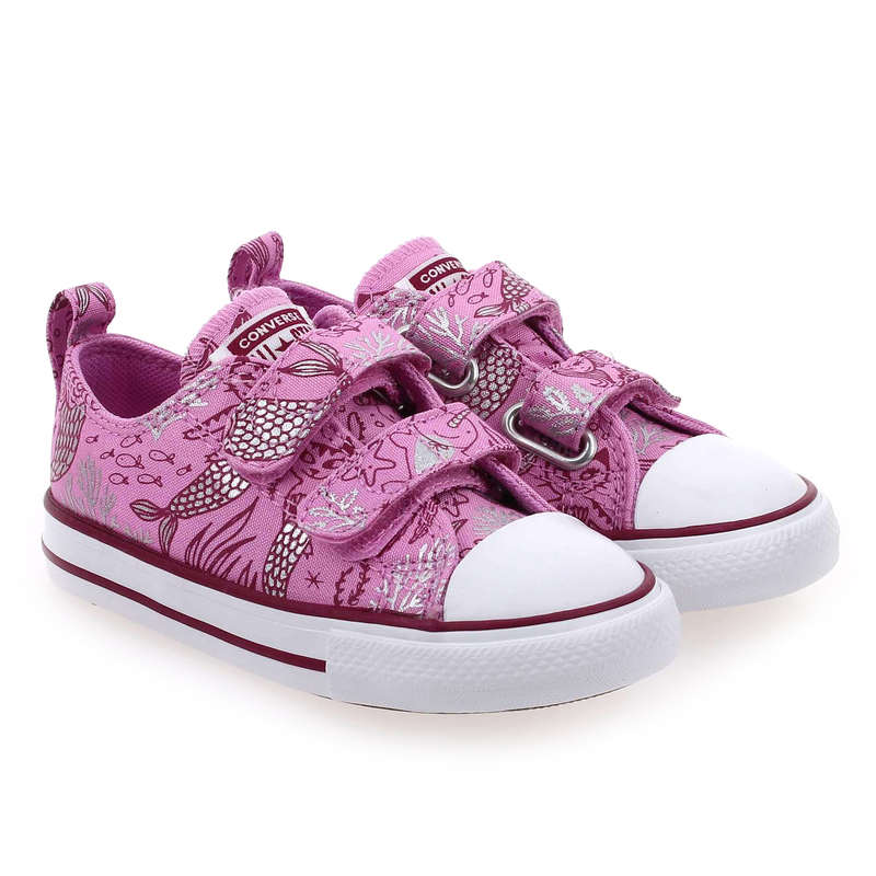 Chaussure Converse CTAS OX 2V SIRENE rose couleur Rose Violet  - vue 0