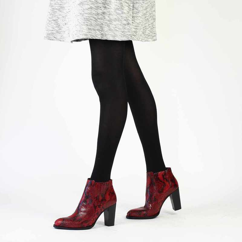Chaussure Janie Philip YVES rouge couleur Rouge python - vue 0