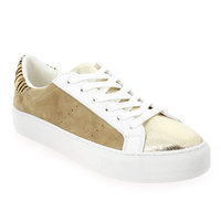 Chaussure No Name modèle ARCADE SNEAKER FOREVER SUEDE, Beige Or - vue 0