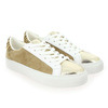 Chaussure No Name modèle ARCADE SNEAKER FOREVER SUEDE, Beige Or - vue 5