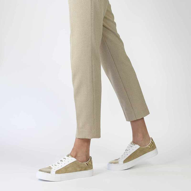 Chaussure No Name ARCADE SNEAKER FOREVER SUEDE beige couleur Beige Or - vue 0
