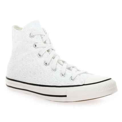 Chaussure Converse modèle CHUCK TAYLOR ALL STA HI BRODERIE, blanc  - vue 0