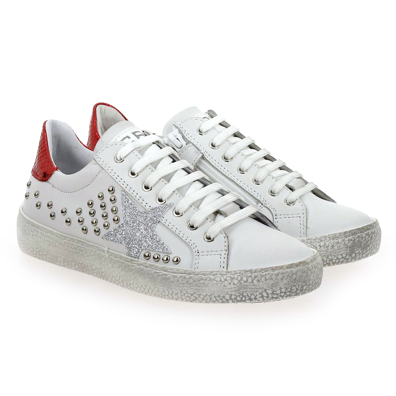 Chaussure Ciao 3911 blanc couleur Blanc Rouge - vue 0