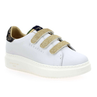 Chaussure Serafini modèle JIMMY CONNORS VELCRO, Blanc Or - vue 0