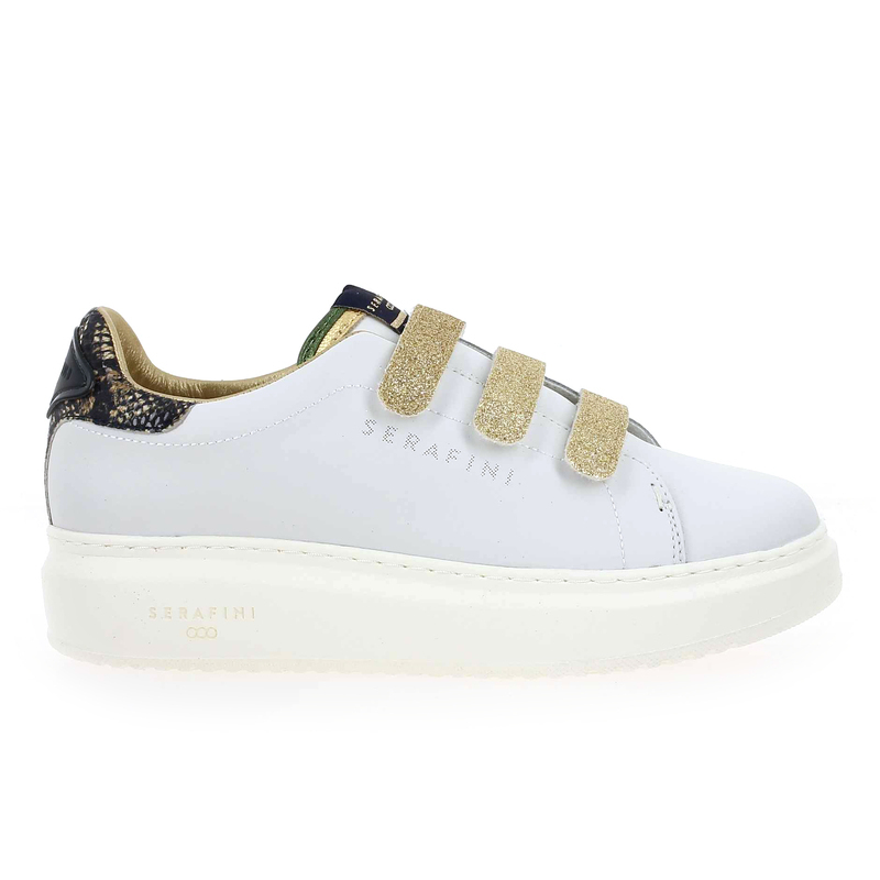 Chaussure Serafini JIMMY CONNORS VELCRO blanc couleur Blanc Or - vue 1