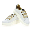 Chaussure Serafini modèle JIMMY CONNORS VELCRO, Blanc Or - vue 2