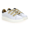 Chaussure Serafini modèle JIMMY CONNORS VELCRO, Blanc Or - vue 5