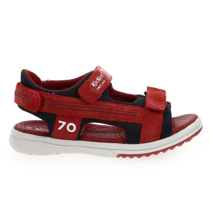 Chaussure Kickers PLANE rouge couleur Rouge Marine - vue 1
