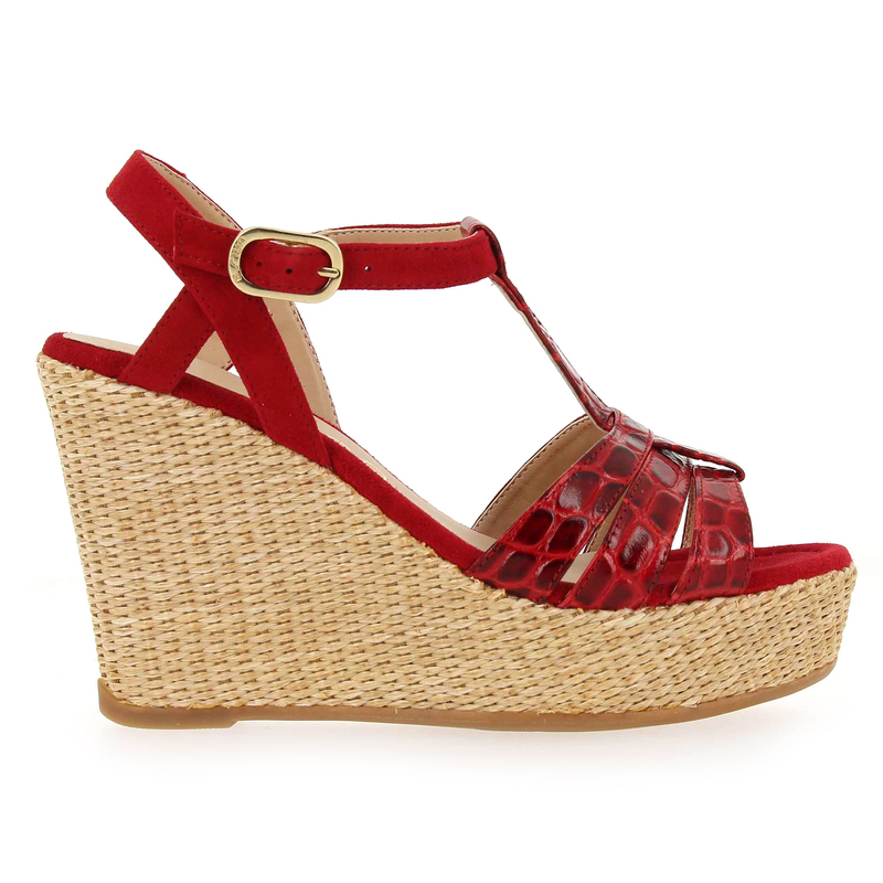 Chaussure Unisa MOLINO rouge couleur Rouge - vue 1