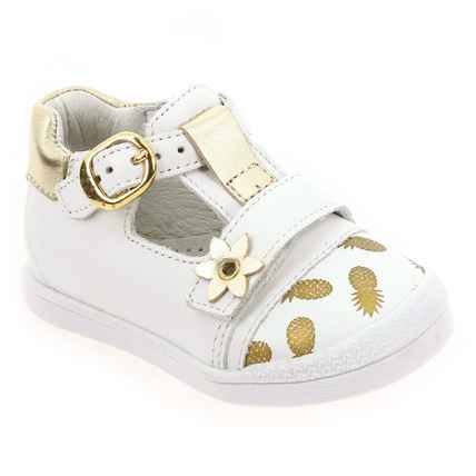 Chaussure Babybotte modèle PUPPY, Blanc Or - vue 0