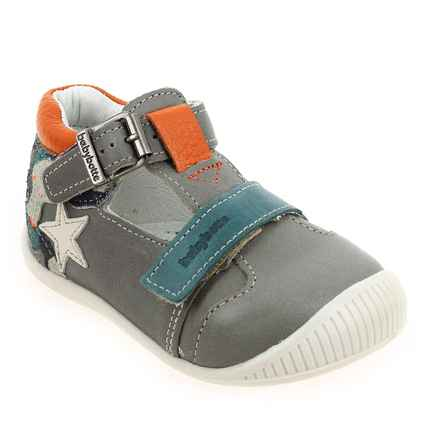 Chaussure Babybotte modèle PLUTON, Gris Orange - vue 0