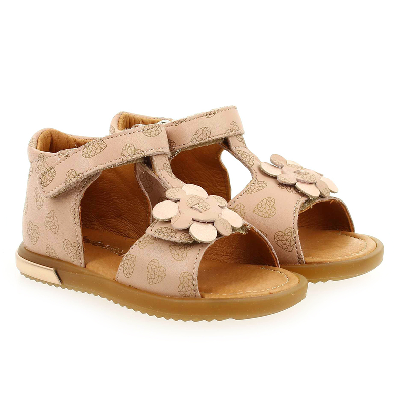 Chaussure Babybotte TREFLE rose couleur Nude - vue 0