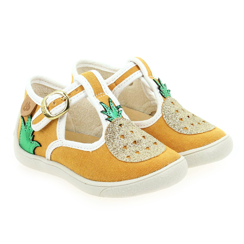 Chaussure Babybotte MAWAI jaune couleur Jaune Or - vue 0