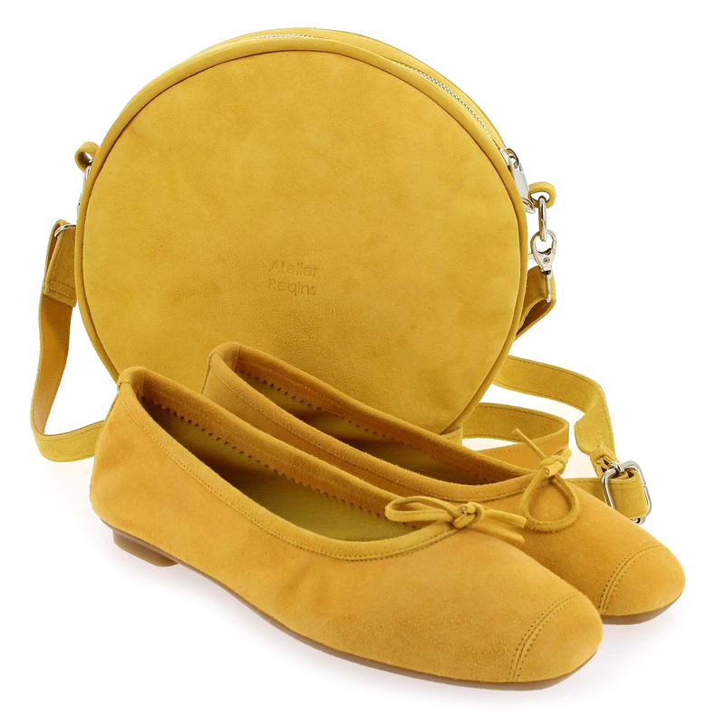 Chaussure Reqins CALIOPE jaune couleur Ocre - vue 0