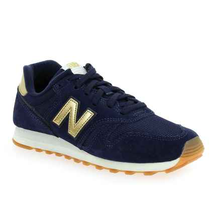 Chaussure New Balance modèle WL 373 FB2, Marine Or - vue 0