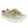 Chaussure No Name modèle ARCADE STRAPS SWING GOAT SUEDE, Platine Beige - vue 5