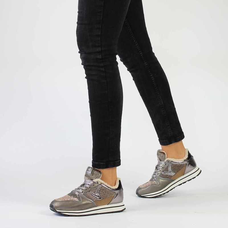 Chaussure Victoria COMETA MULTIMATERIAL BO gris couleur Anthracite Taupe  - vue 0