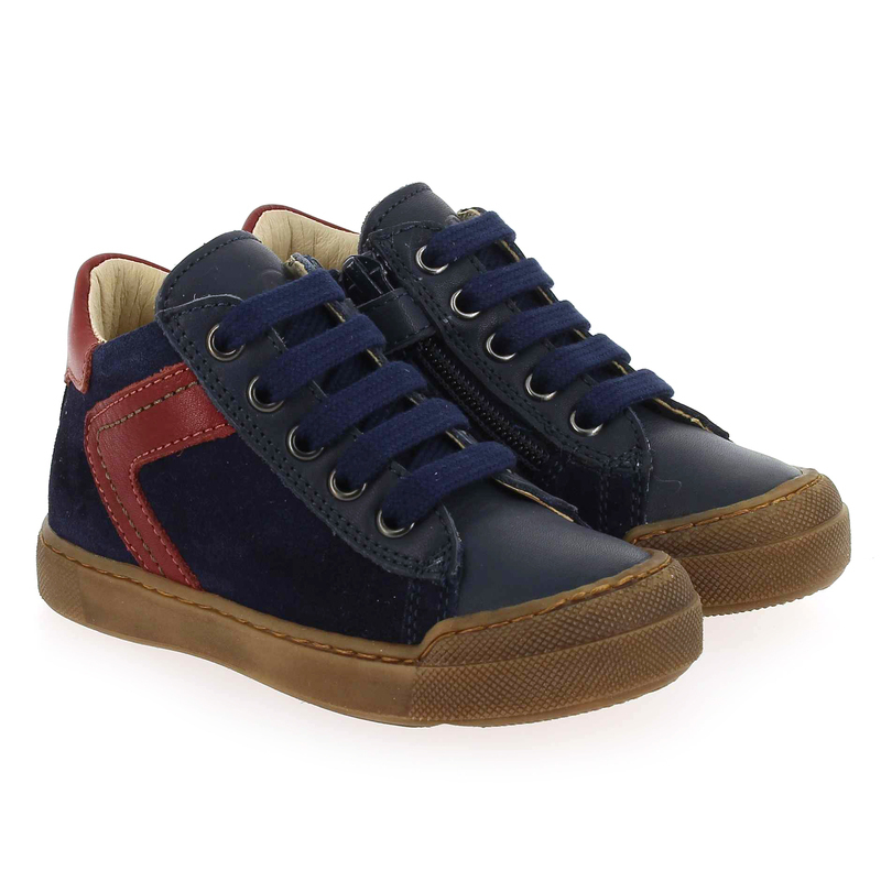 Chaussure Falcotto by Naturino HEIST bleu couleur Marine Rouge - vue 0
