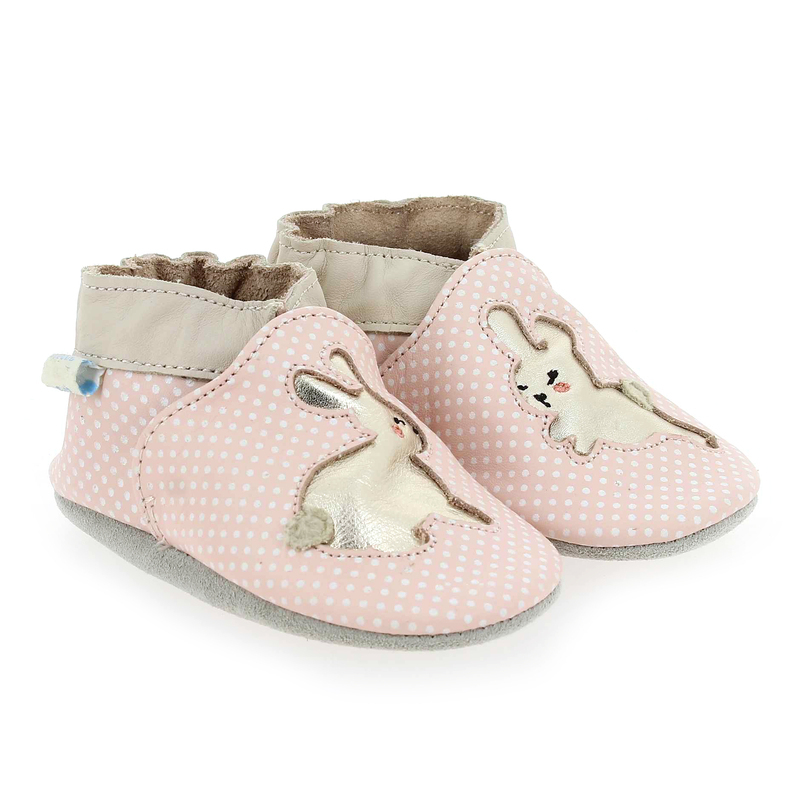Chaussure Robeez RABBIT BABY rose couleur Rose - vue 0