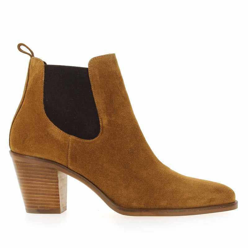 Chaussure Janie Philip DYLAN camel couleur Tabac - vue 1