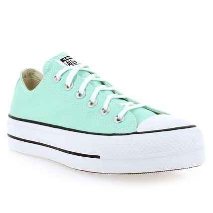Chaussure Converse modèle CHUCK TAYLOR  ALL STAR LIFT OX, Turquoise - vue 0