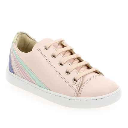 Chaussure Shoopom modèle PLAY LO STRIPES, Rose pastel  - vue 0