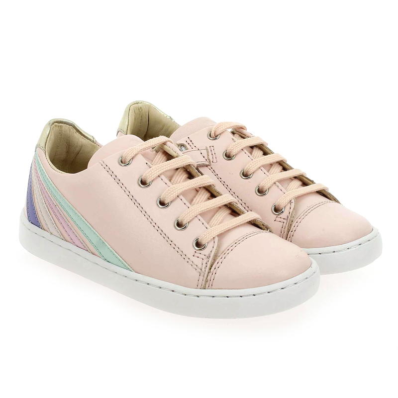 Chaussure Shoopom PLAY LO STRIPES rose couleur Rose pastel  - vue 0