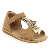 Chaussure Shoopom modèle TITY FRINGE, Camel Or - vue 0