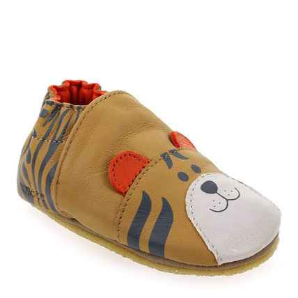 Chaussure Robeez modèle AWESOME TIGER, Camel - vue 0