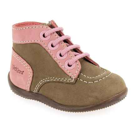 Chaussure Kickers modèle BONZIP H20 F, Taupe Rose - vue 0